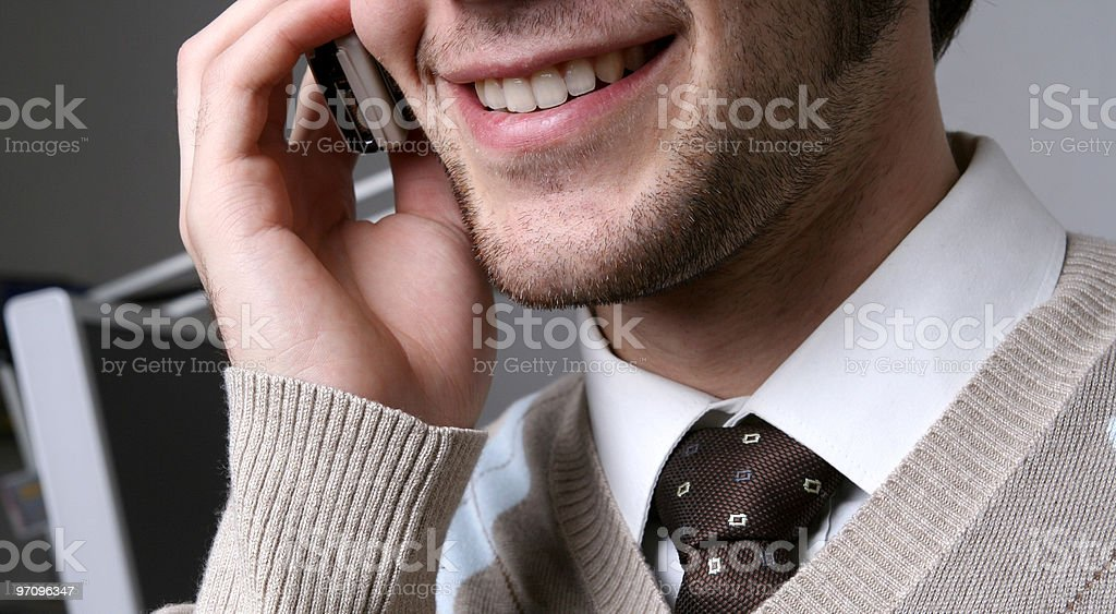 Young male talking on the phone royalty-free stock photo
