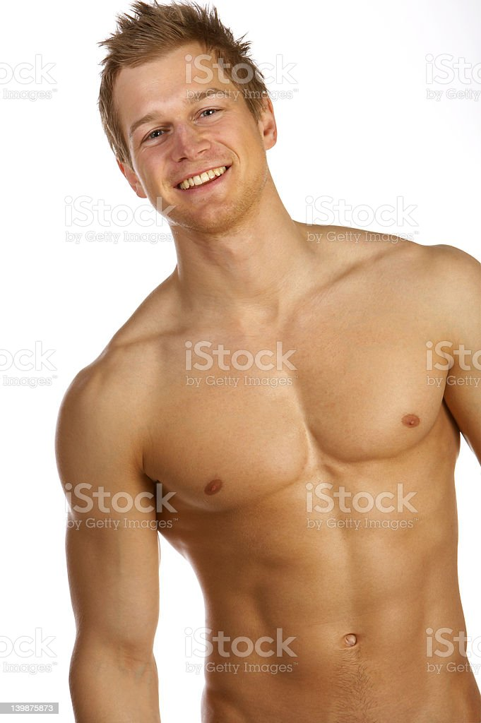 Young male underwear model. royalty-free stock photo