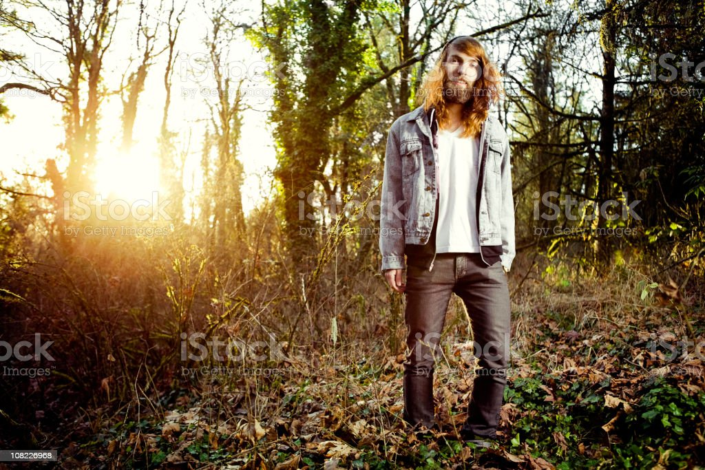 Young Man 1980's Rebel Portrait royalty-free stock photo