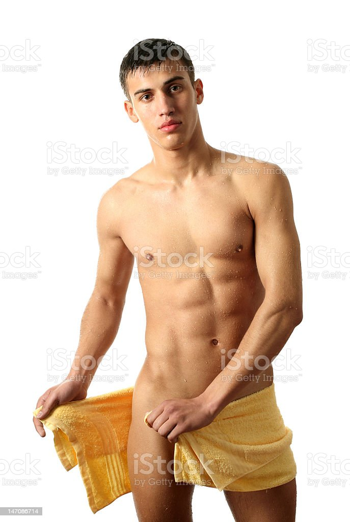 Young Man after Shower royalty-free stock photo