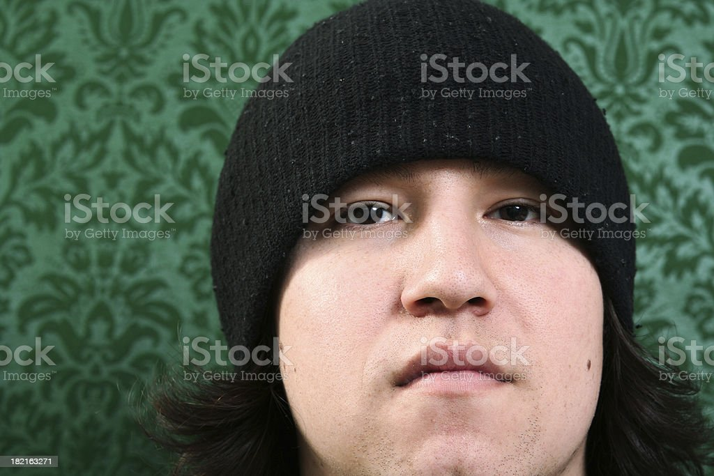 young man against royalty-free stock photo