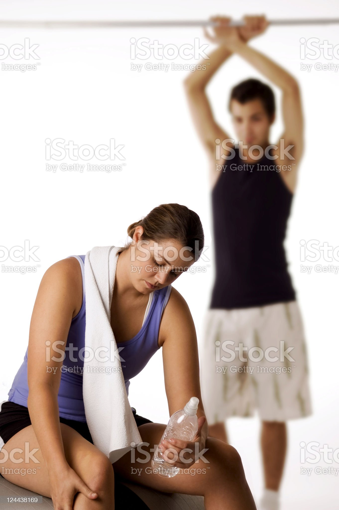Young man and woman after a healthy workout royalty-free stock photo