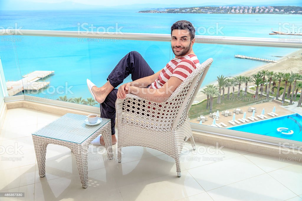 Young Man at Vacation stock photo