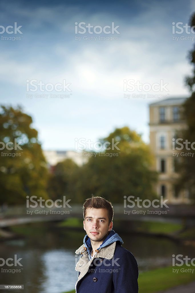 Young man Autumn portrait royalty-free stock photo