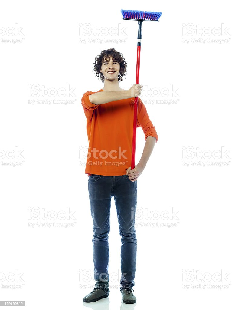 young man caretaker janitor portrait royalty-free stock photo