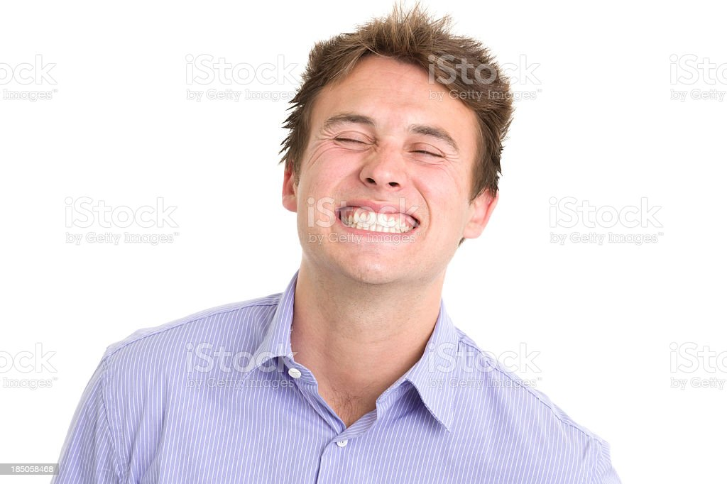 Young Man Cheesy Grin stock photo