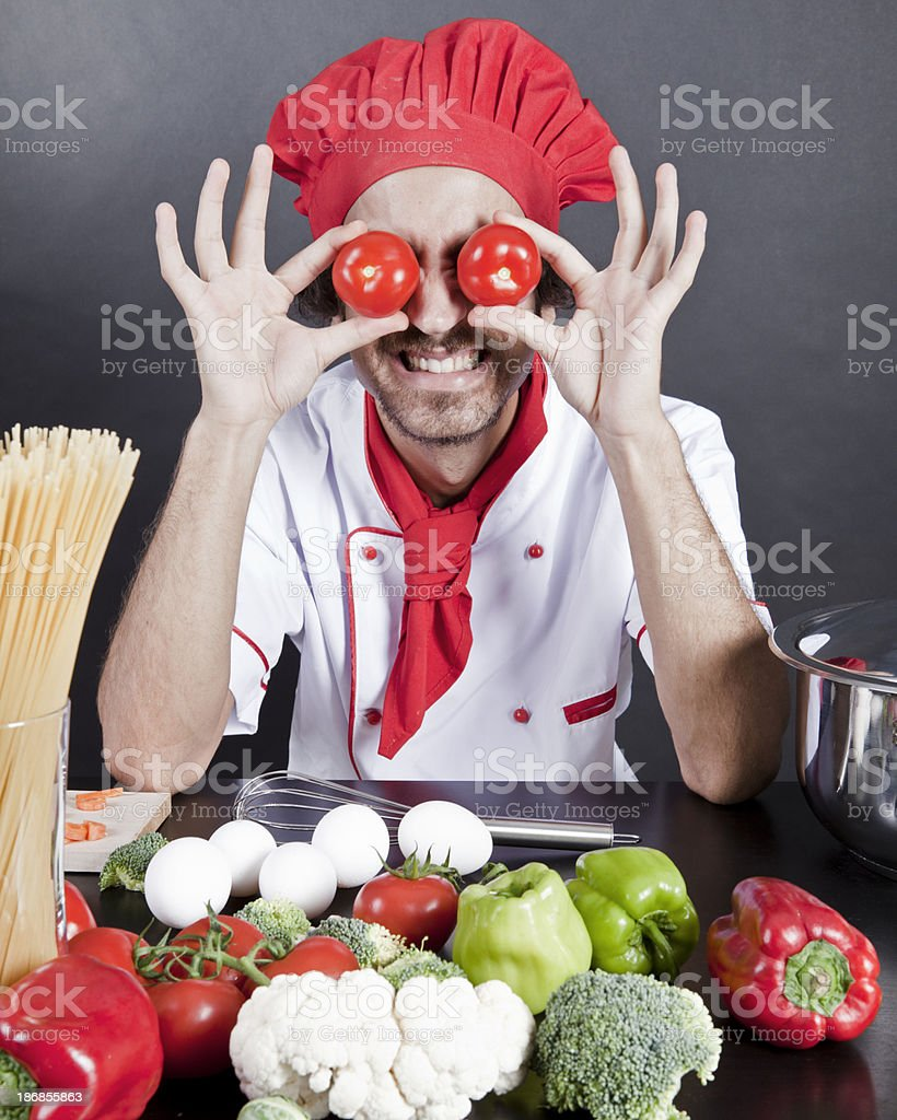 Young man chef royalty-free stock photo