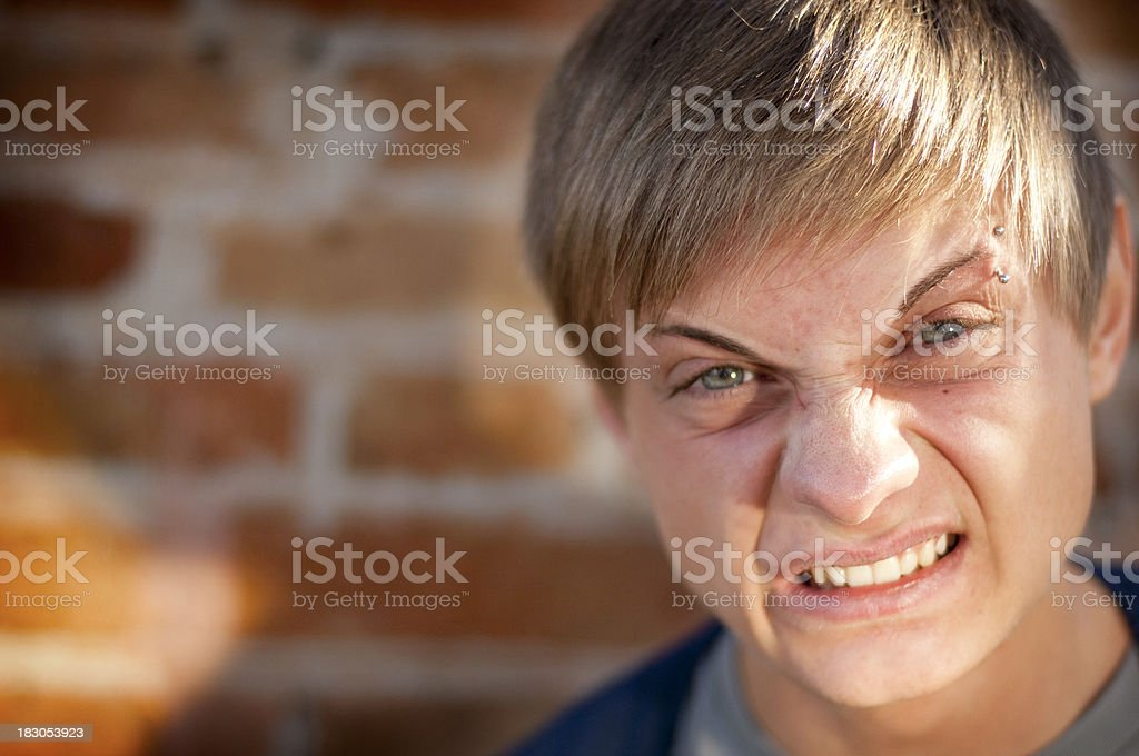 Young Man Clenching Teeth royalty-free stock photo