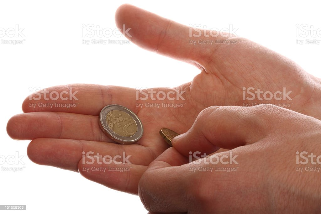Young man counting money. royalty-free stock photo