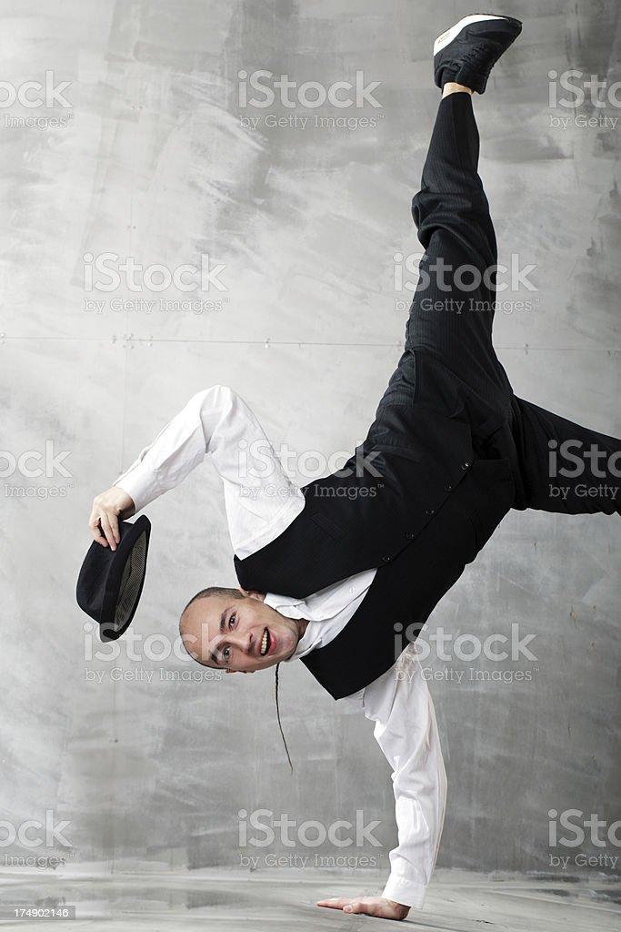young man dancing royalty-free stock photo