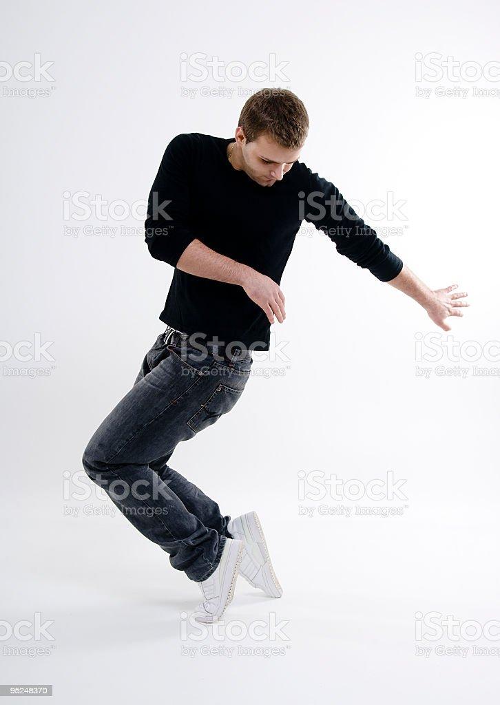 Young man dancing stock photo