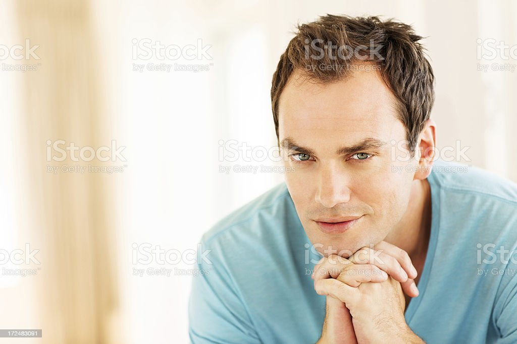 Young Man Day Dreaming royalty-free stock photo
