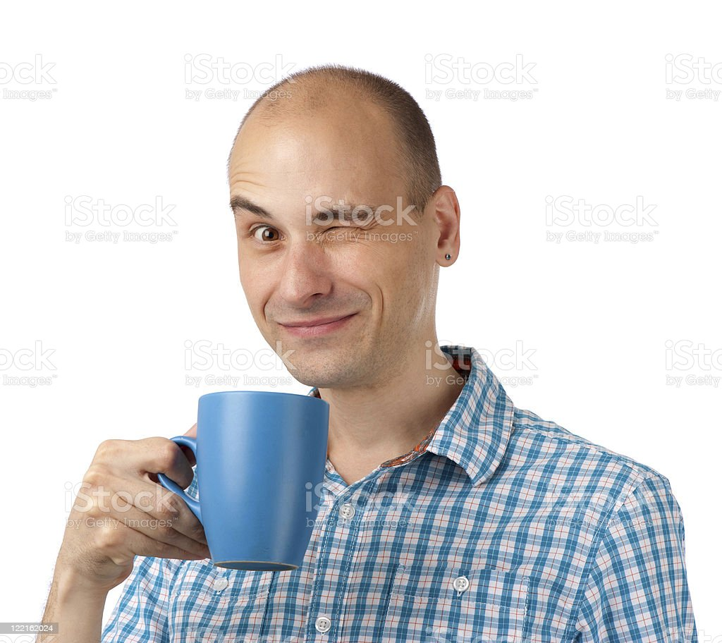 young man drinking coffee royalty-free stock photo