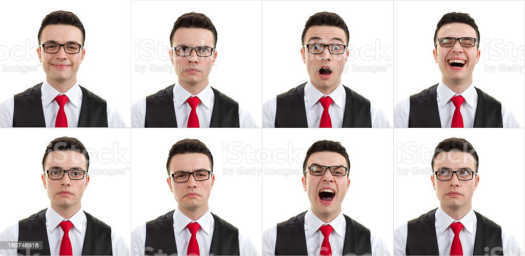 Young Man Facial Expression royalty-free stock photo