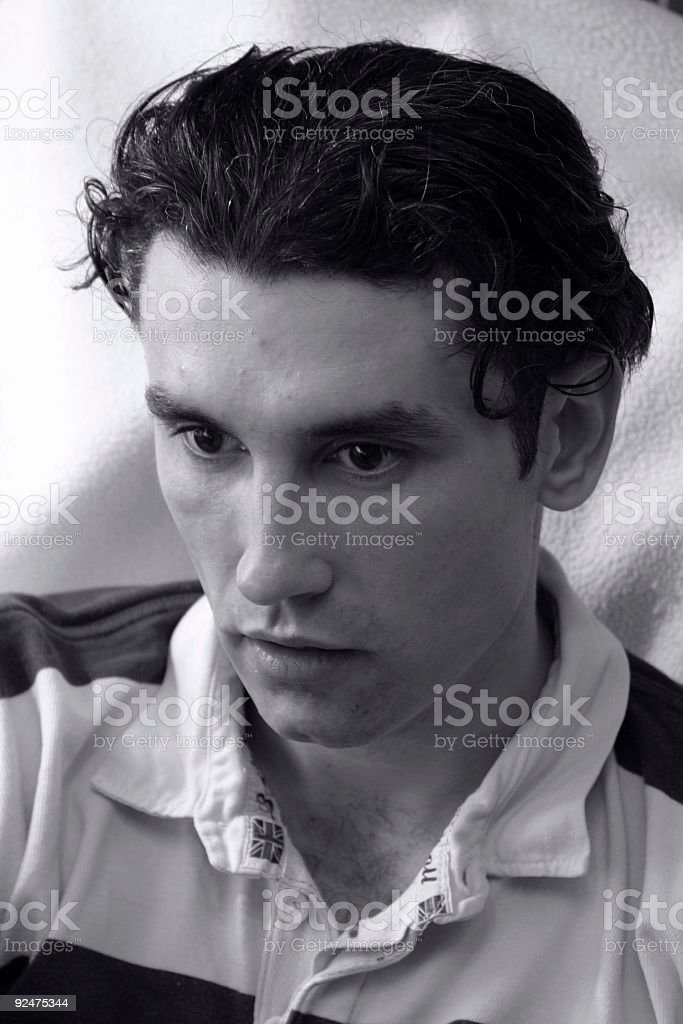 young man focused royalty-free stock photo