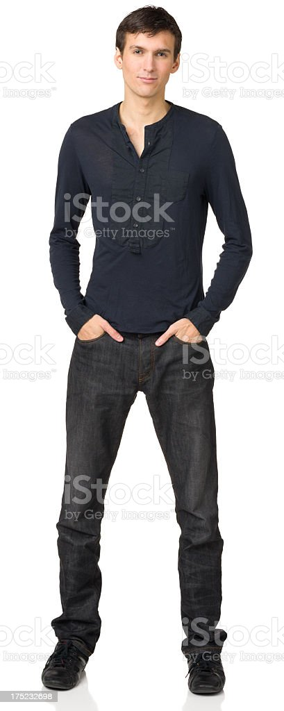 Young Man Full Length Portrait stock photo