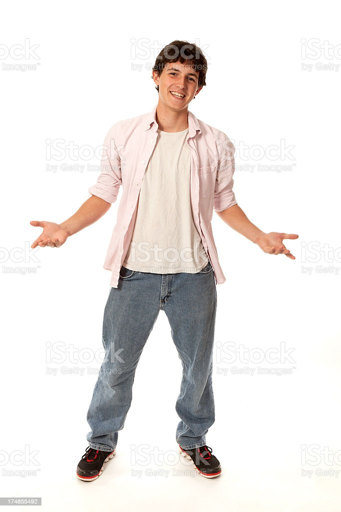 young man gesturing royalty-free stock photo