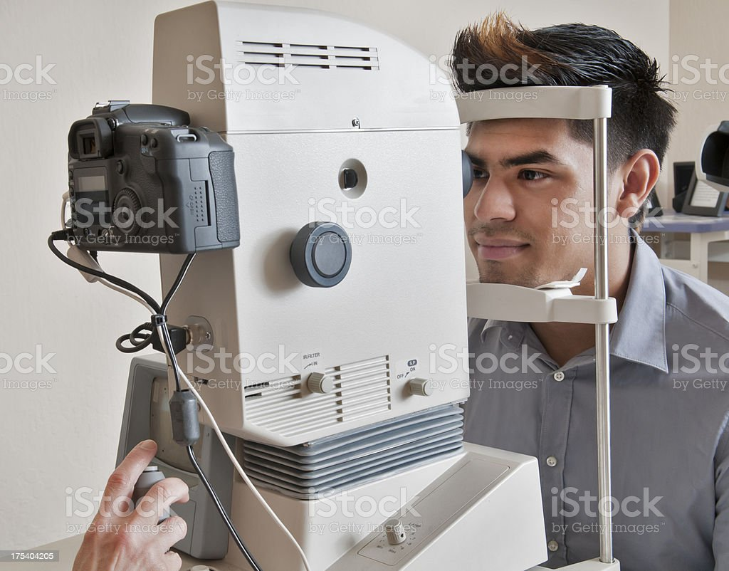 Young Man Getting Eye Exam royalty-free stock photo