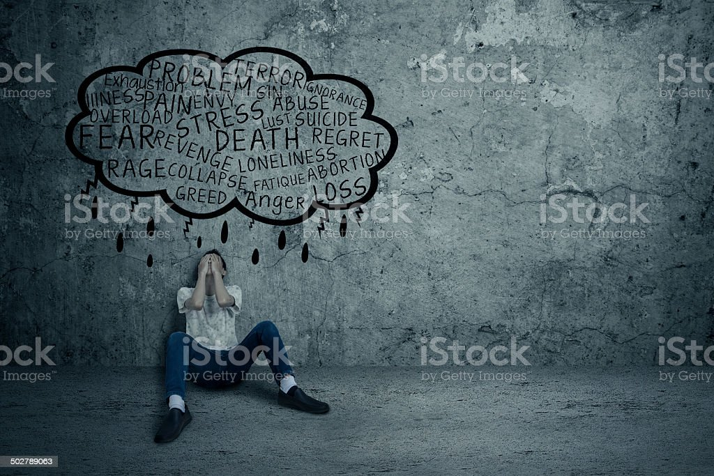 Young man getting frustrated stock photo