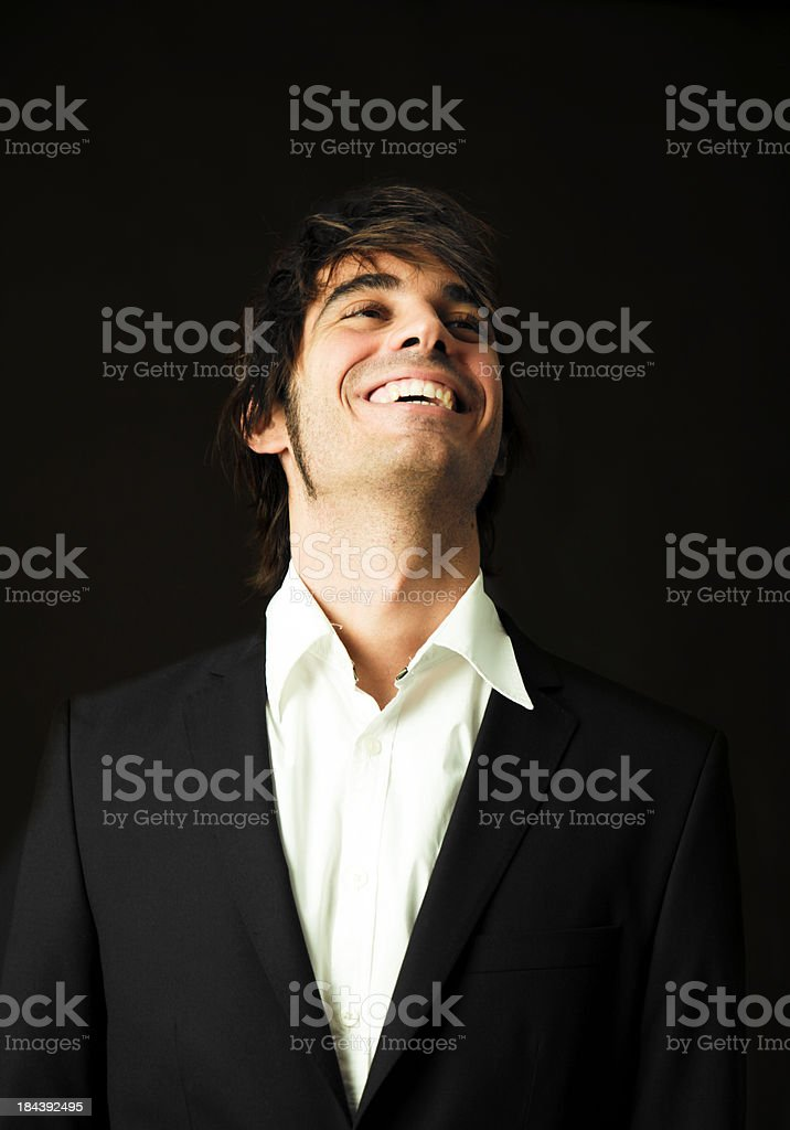 Young man happy royalty-free stock photo