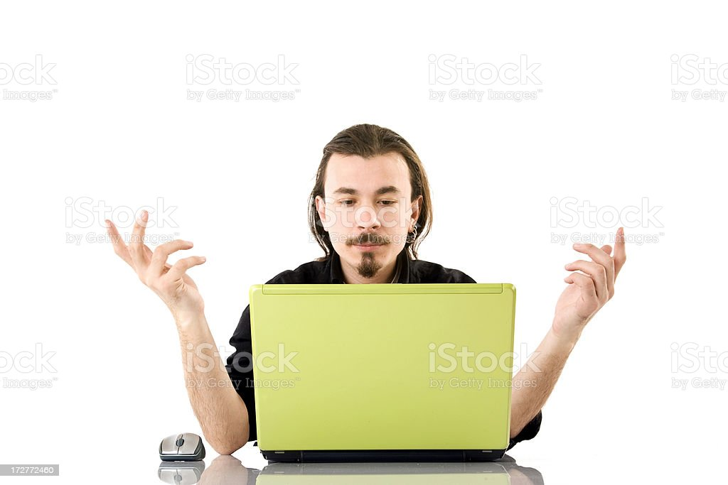 Young man have problem royalty-free stock photo