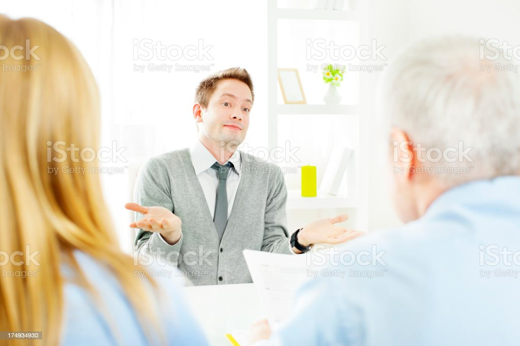 Young Man Having a Job Interview royalty-free stock photo
