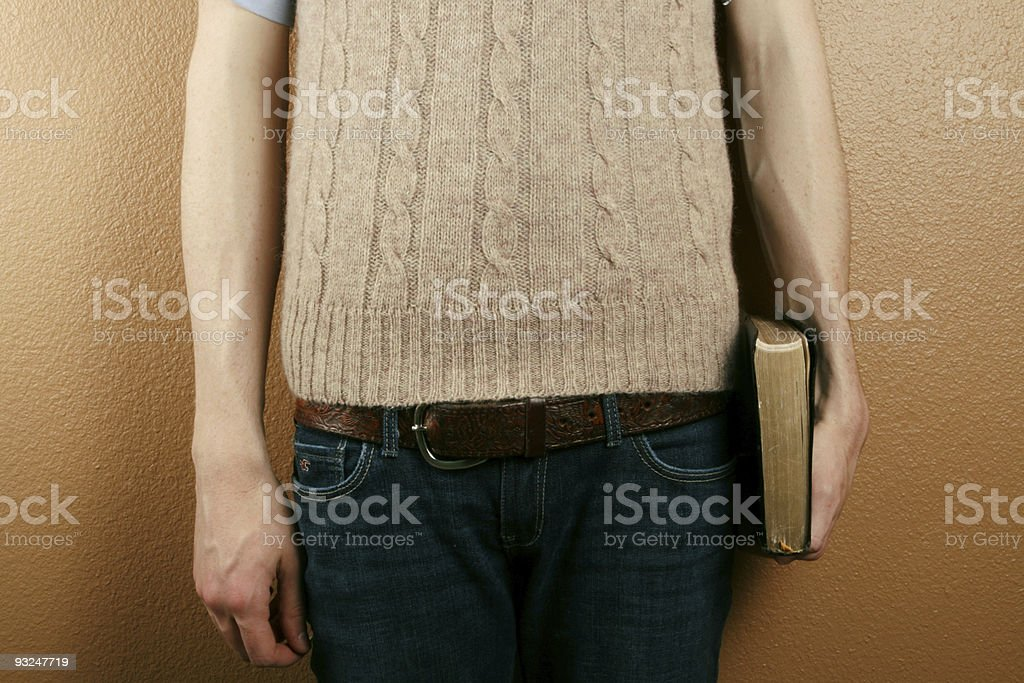 Young Man Holding Bible royalty-free stock photo
