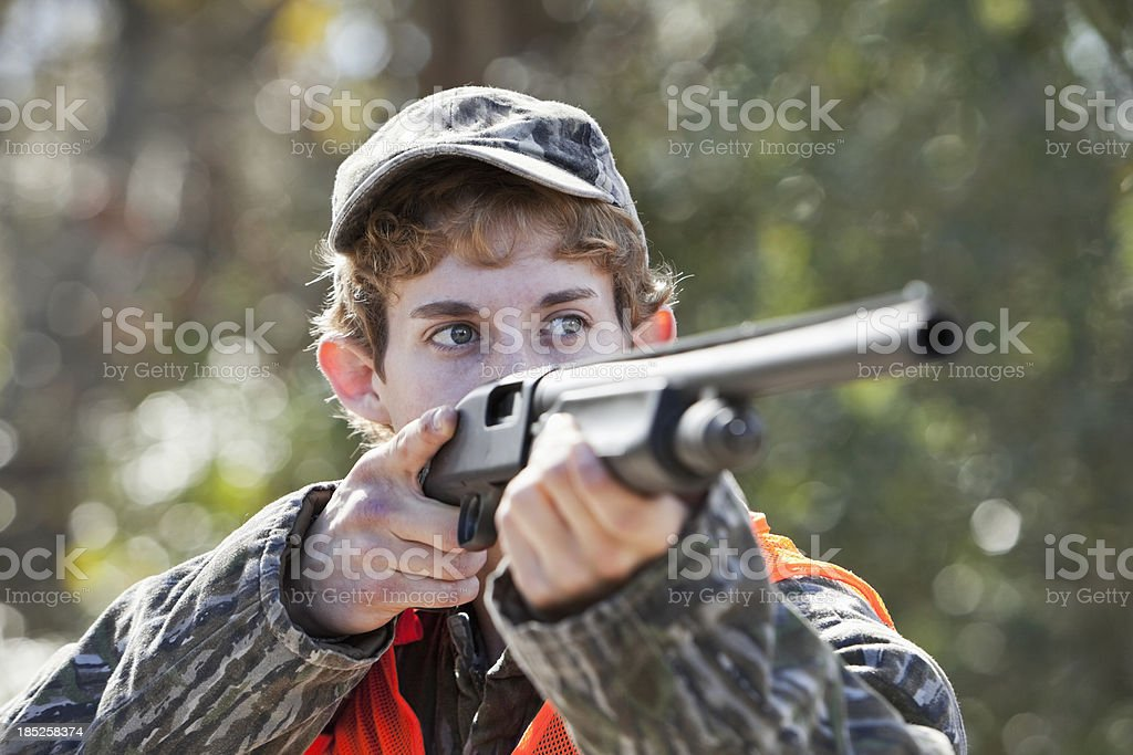 Young man hunting royalty-free stock photo
