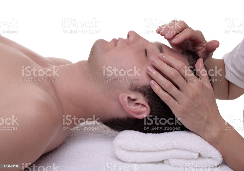 Young Man In A Health Spa royalty-free stock photo