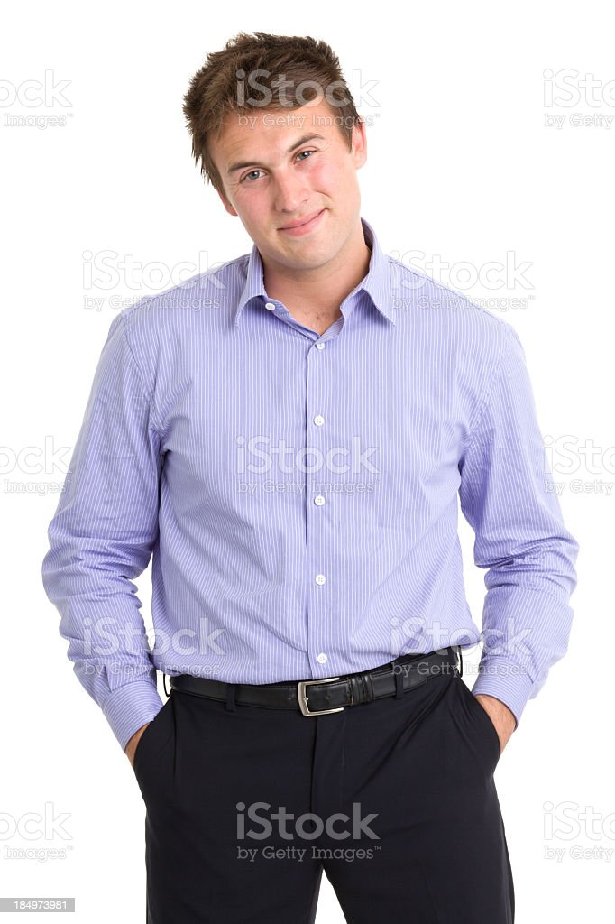 Young Man in Business Casual royalty-free stock photo