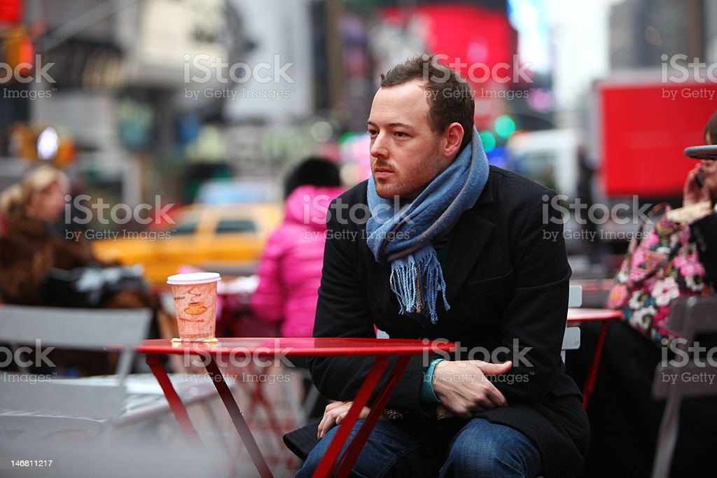 Young Man in City Center royalty-free stock photo