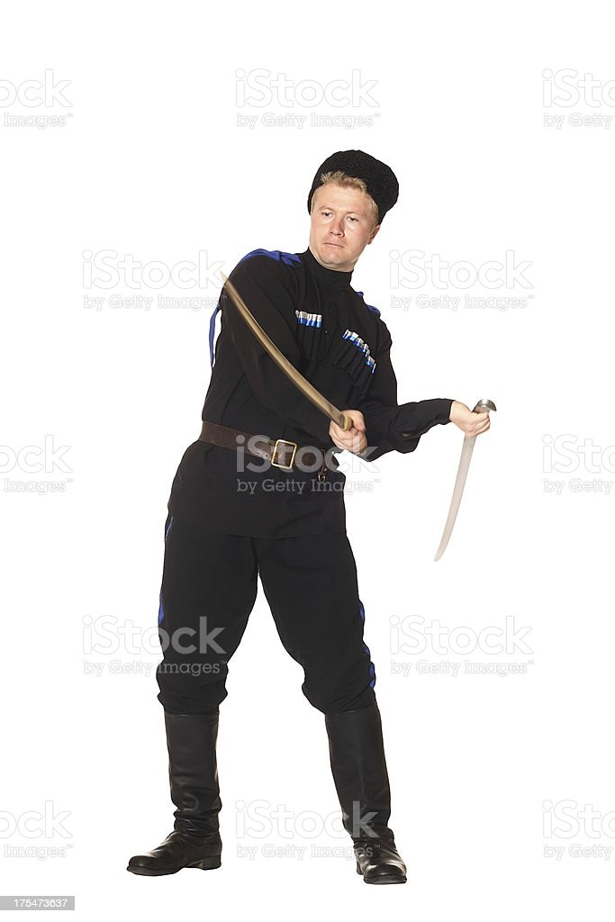 Young man in Cossack clothes royalty-free stock photo