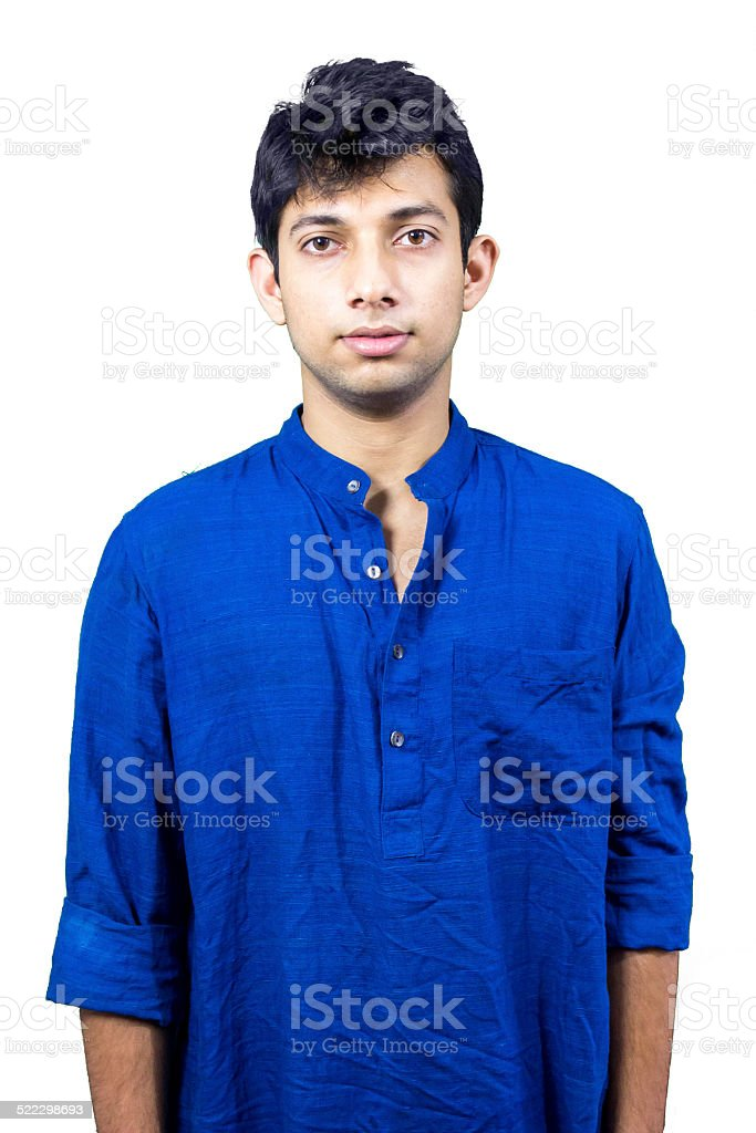 Young man in kurta stock photo
