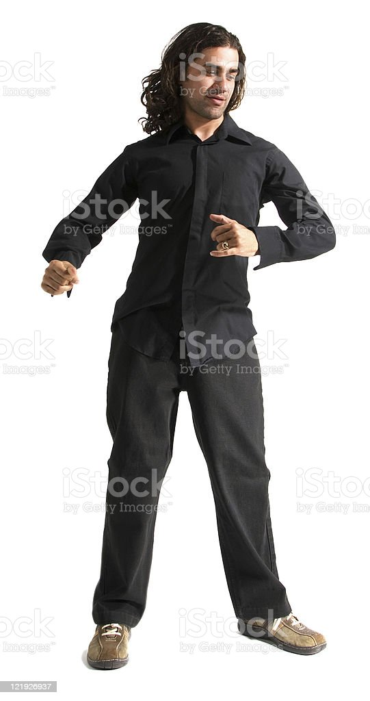 Young Man in Motion Series stock photo