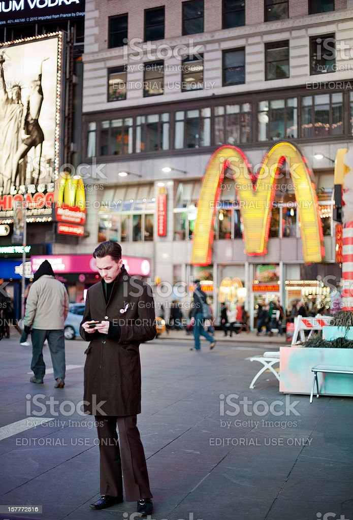 Young Man in NYC royalty-free stock photo