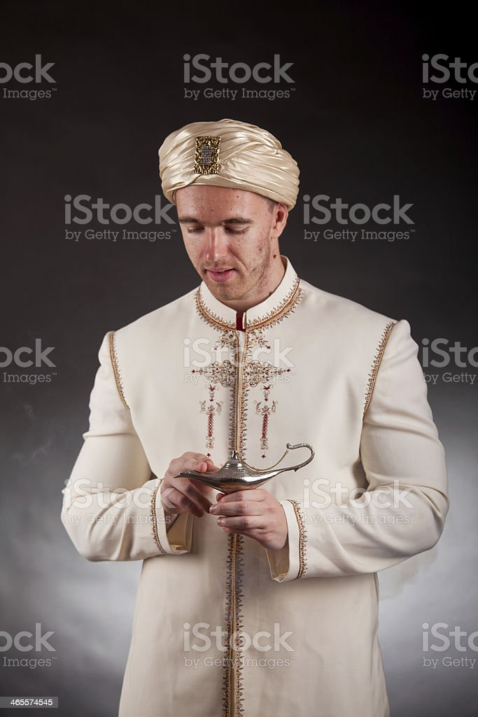 Young man in oriental costume royalty-free stock photo