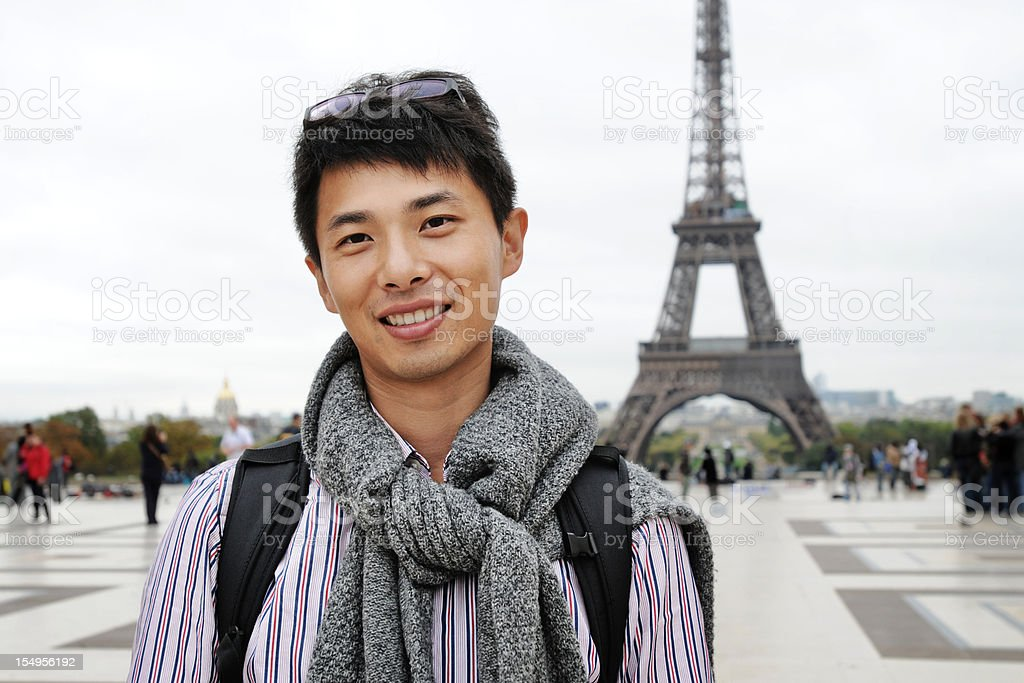 Young Man in Paris - XLarge stock photo