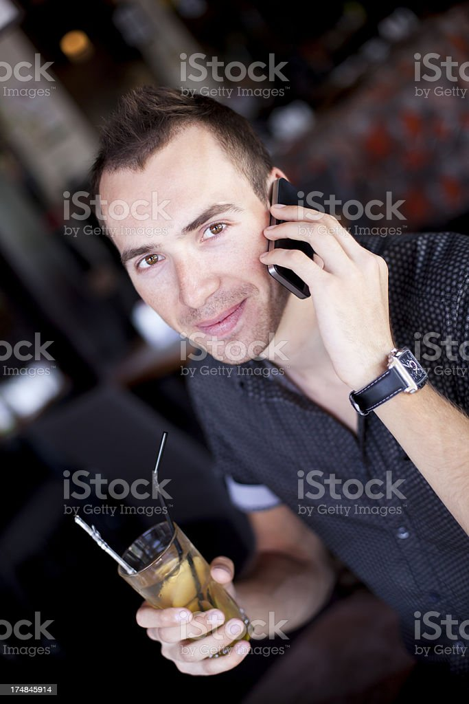 Young Man In Restaurant royalty-free stock photo