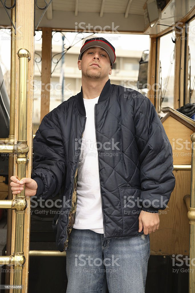 Young Man in San Francisco stock photo