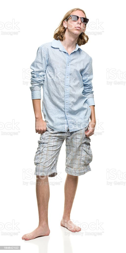 Young Man in Sunglasses stock photo
