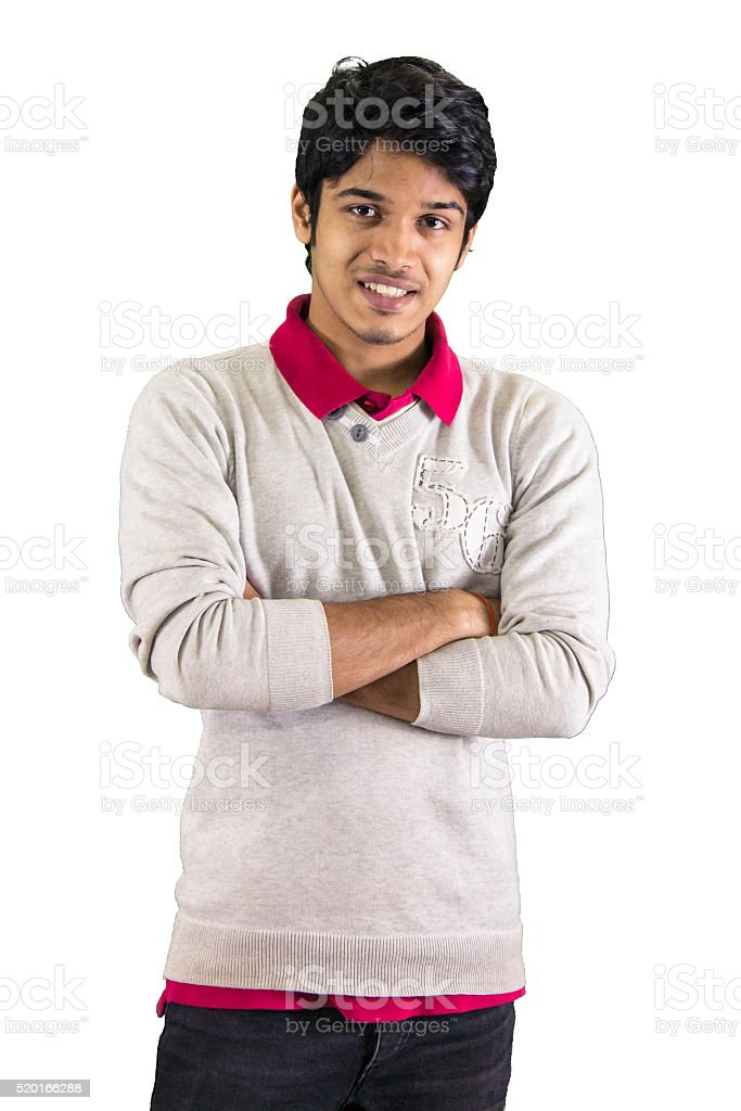 Young man in sweater. stock photo
