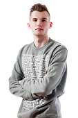 young man in sweater