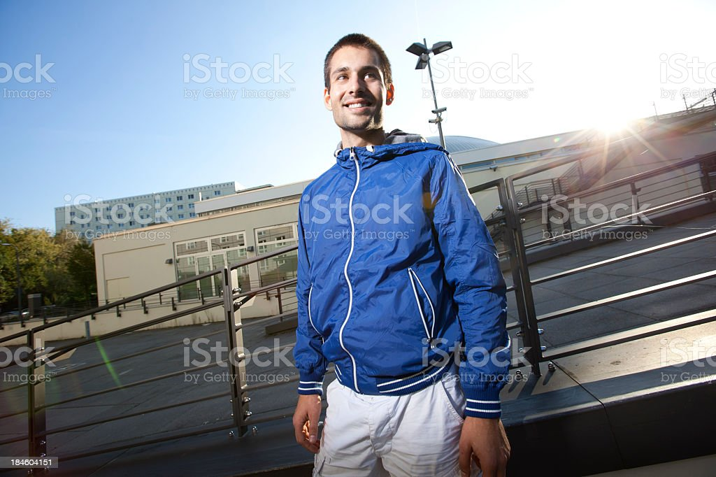 Young man in the city royalty-free stock photo