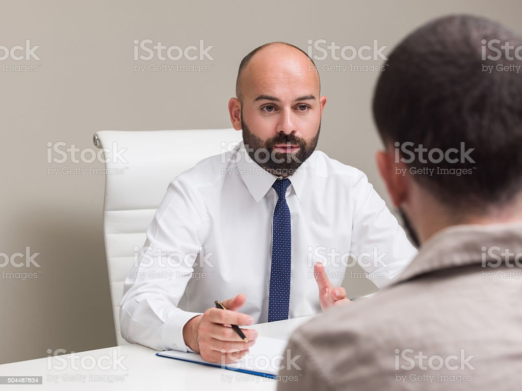Young man in therapy stock photo
