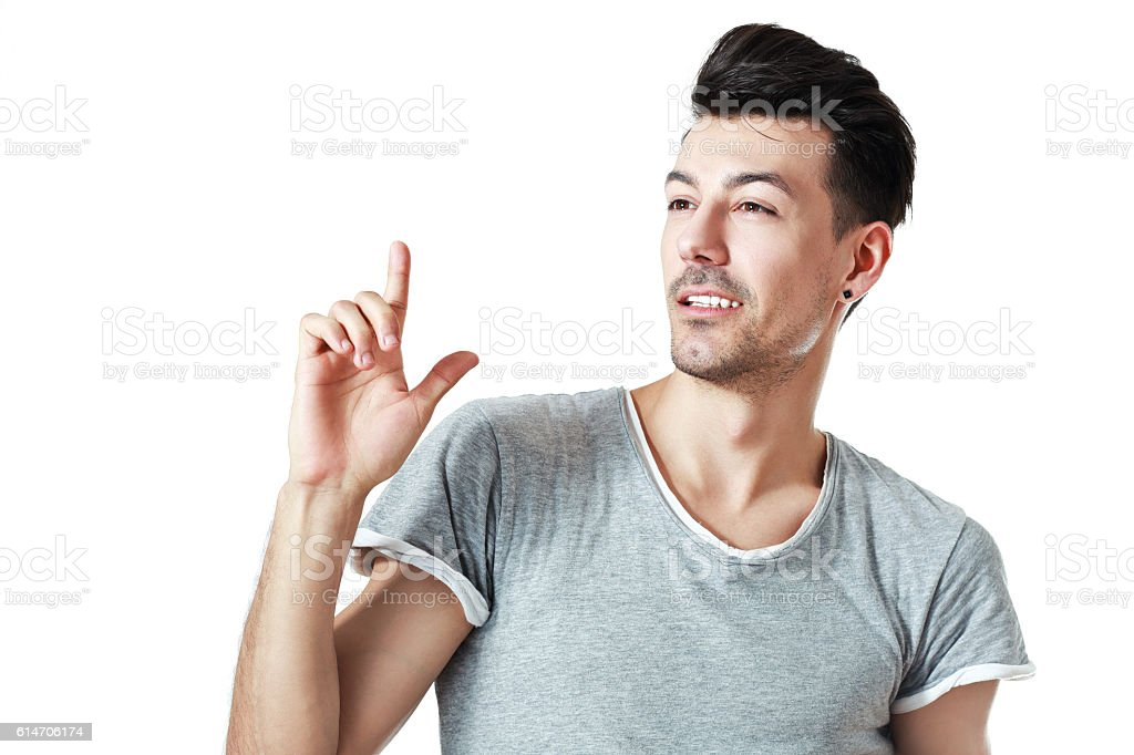 young man isolate stock photo