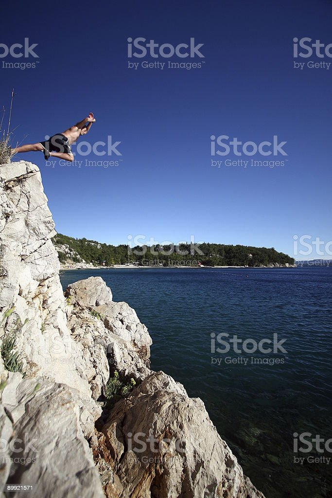 Young Man Leaping royalty-free stock photo