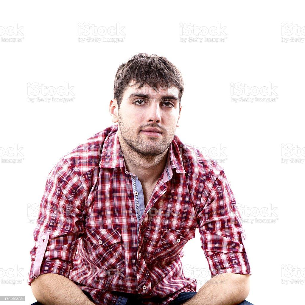 Young Man looking at camera royalty-free stock photo