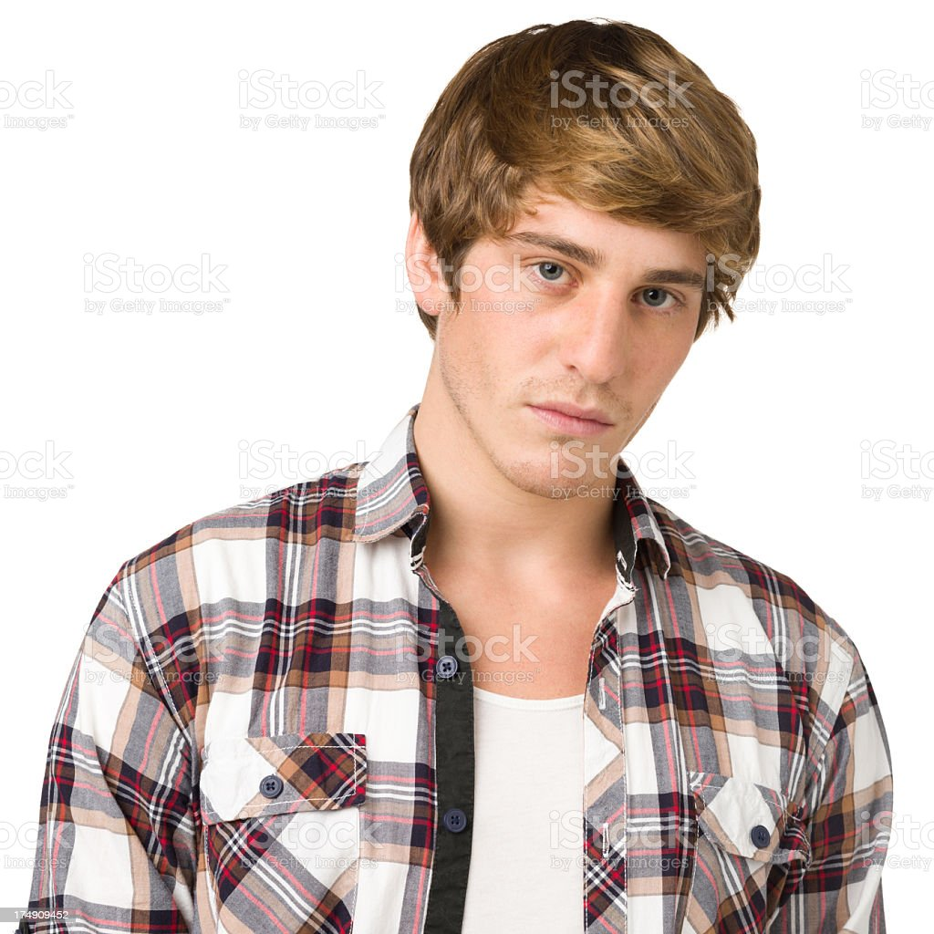 Young Man Looking At Camera With Blank Expression royalty-free stock photo