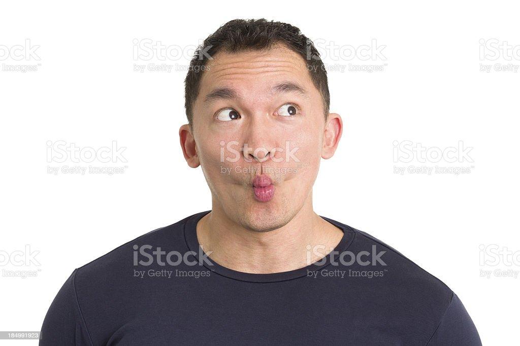 Young Man Makes Fish Lips royalty-free stock photo