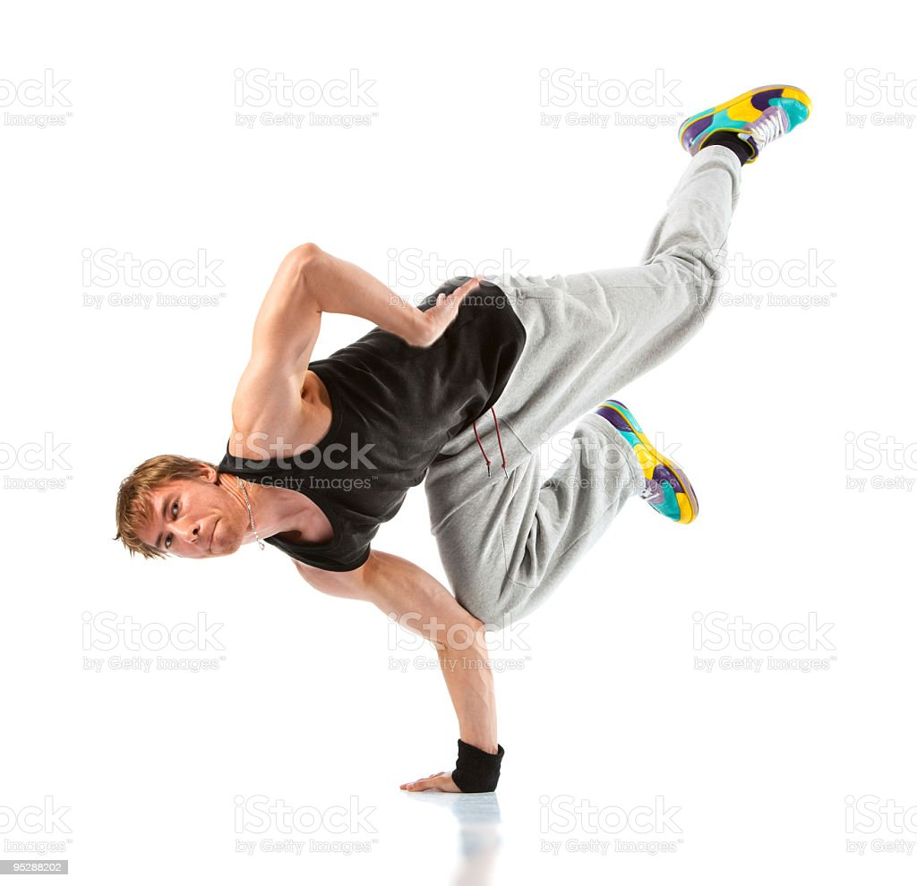 Young man modern dance royalty-free stock photo